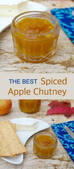 Spiced Apple Chutney - Easy, Delicious and Simply The Best - Tin and Thyme Chutney Recipes, Sauce Recipes, Curry Recipes, Easy Apple Chutney Recipe, Relish Recipes, Vegetarian Recipes, Ketchup, Pesto, Marmalade