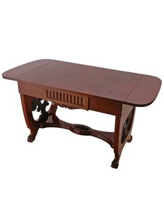 We love anything with carved feet: Danish Empire Style Sofa or Writing Table, circa 1910 | The HighBoy | www.thehighboy.com