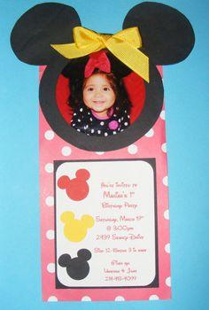 Invitation I made for Ms. Mariah's 1st Birthday...