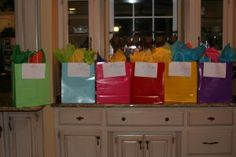Cute New Years Eve party idea!  Open a sack with an activity each hour...made for teen girls.