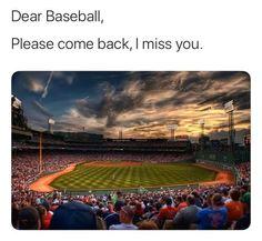 Baseball Memes, Please Come Back, I Miss You, Baseball Field, Comebacks, I Miss U, Miss You