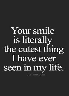 Looking for something to sweeten up your life? Why not a series of handpicked cute quotes, which are ideal for saying to your boyfriend or girlfriend. There is nothing like waking up to read a message r Favorite Quotes, Best Quotes, Funny Quotes, Lgbt Love Quotes, Cute Smile Quotes, Your Smile Quotes, Adorable Quotes, Cute Love Quotes, The Words