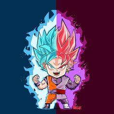 Goku and Goku Black - Visit now for 3D Dragon Ball Z compression shirts now on sale! #dragonball #dbz #dragonballsuper