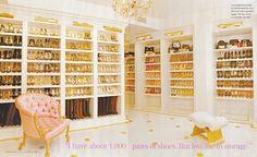 Mariah Carey's closet in InStyle magazine