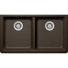 Buy Here: http://thd.co/1K2H2xo SCHOCK ALIVE CRISTADUR ALIN200YU087 Undermount Granite Composite 33 in. 0-Hole 50/50 Double Bowl Kitchen Sink in Bronze #kitchensink #kitchensinks #kitchen #sinks #schock #granitesink