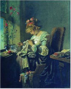 Вышивание в живописи, или С праздником, вышивальщицы! - Ярмарка Мастеров - ручная работа, handmade