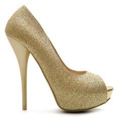 Ollio Womens Shoes Platform Stilettos High Heels Pumps Glitter