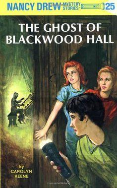Nancy Drew 25: The Ghost of Blackwood Hall by Carolyn Keene, http://www.amazon.com/dp/0448095254/ref=cm_sw_r_pi_dp_nfIQtb1CYTXTR