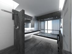 Luxury Dark Grey Bathroom Interior Ideas