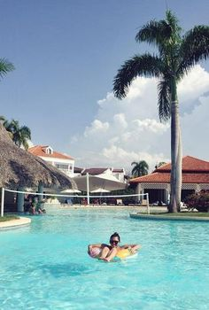 Some days you just need a floaty and a pool (in the Dominican Republic of course)
