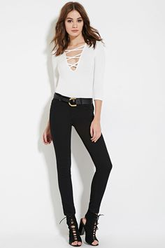 Classic Solid Skinny Jeans | Forever 21 - 2000102147