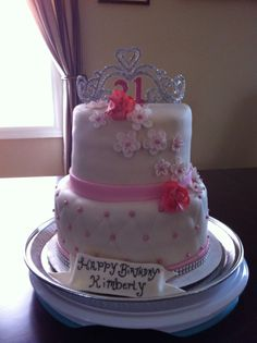 Bottom tier is chocolate cake with chocolate buttercream. Top tier is vanilla cake with vanilla buttercream .