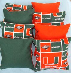Miami Hurricanes Bags Set Of 8 By Sewingwhat On Etsy 24 00