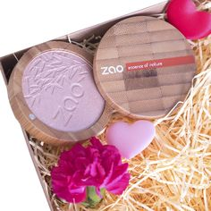 ZAO Makeup Shine Up Powder | Organic Highlighter | Valentines Day Gift Set For Her