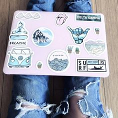 30 Most Popular Christmas Gifts for College Girl - Macbook Laptop - Ideas of Macbook Laptop - laptop stickers Macbook Skin, Coque Macbook, Macbook Laptop, Cute Laptop Stickers, Macbook Stickers, Phone Stickers, Mac Stickers, Macbook Decal, Mac Book