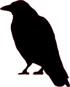 Crow Silhouette clip art Free vector in Open office drawing svg ...