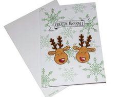Weihnachtsgrußkarte Rentier mit passendem Umschlag   Erstellt mit: - Elementstanze Lebkuchenmännchen  - Stempelset Ausgestochen weihnachtlich - Stempelset Drauf und dran