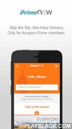 Amazon Prime Now  Android App - playslack.com , You have better things to do than go to the store. Skip the trip and shop for tens of thousands of daily essentials and gift items through the Amazon Prime Now app. Two-hour delivery is FREE and one-hour delivery is available in most areas for just $7.99. Prime Now is available from early morning to late night, seven days a week.• Currently available in select areas of New York City, Miami, Baltimore, Dallas, Atlanta and Austin.• An Amazon…