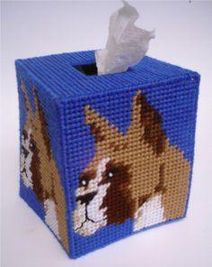 Boxer Dog Tissue Topper-Plastic Canvas Pattern