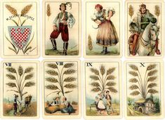 19th Century Czech Nationalistic playing-cards designed by Emanuel Neumann, c.1895