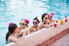Bridesmaids with Fruit Smoothies at the Pool = fun bachelorette party girls weekend Pool Wedding, Wedding Pics, Bridesmaid Tips, Bridesmaids, Bachelorette Weekend, Girls Weekend, Here Comes The Bride, The Hamptons, Florida