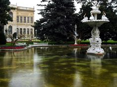 Gardens of Dolmabahce palace in Istanbul, Turkey. This palace was home to the Ottoman rulers
