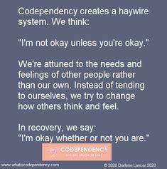 Warrior Spirit, Im Not Okay, Codependency, Other People, Counseling, Behavior, Believe, Self, Wisdom