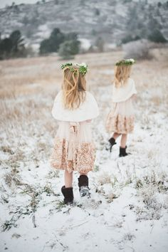 Winter flower girls, photo by Bellamint Photography