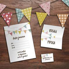 Download Papelaria de Festa Junina Download, Tableware, Frame, Marketing Digital, Tags, Home Decor, Places, Party Bunting, Christmas Tabletop