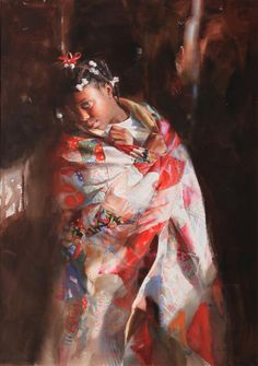 Persimmon by Mary Whyte   American Watercolor Artist