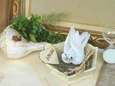 Spring Wedding Decor Farmhouse Wedding Ring Wooden by Modern101, $10.00