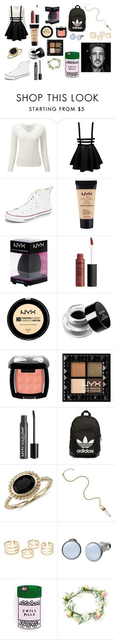 """I Can Explain"" by kathrynclifford on Polyvore featuring Converse, NYX, adidas Originals, Blue Nile, Skagen, women's clothing, women, female, woman and misses"