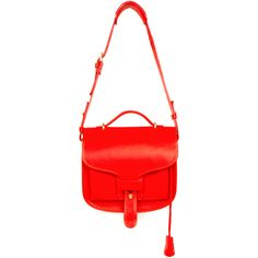Opening Ceremony OC Ace Curved Edge Flap Bag ($775) ❤ liked on Polyvore