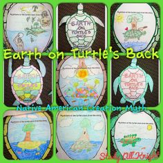 American Myth: Earth on Turtle's Back Craftivity and Printables Earth on Turtle's Back Native American Creation Myth- great for back to school!Earth on Turtle's Back Native American Creation Myth- great for back to school! Native American Literature, Native American Lessons, Native American Projects, Native American Art, American Symbols, American Indians, American Day, American History, American Quotes