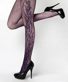 Take a look at this Violet Floral Tights by r.bryant on #zulily today!