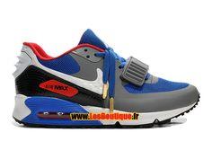Nike Air Max 90 Yeezy 2 Design by Blkvis - Chaussure Nike Sportswear Pas Cher Pour Homme Gris loup/Bleu électrique/Rouge université/Blanc 508214-703