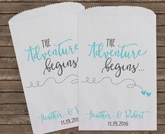 Travel Theme Wedding Favor Bags Wedding Favors by StampsJubilee