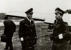 luftwaffe pilot | Aircrew Luftwaffe pilots Walter Hoeckner left and Walter Oesau right ...