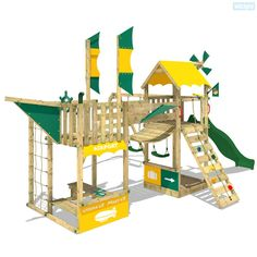 Giochi da giardino Wickey Smart Wing a forma di nave e ponte traballante. Ampia gamma di parco giochi e accessori nella nostra pagina internet.