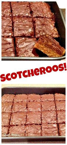 Scotcheroos! Butterscotch, chocolate,rice krispies.... in every bite! Very easy recipe and a great tasting snack