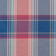 Red and Blue Big Plaid Poly-Linen