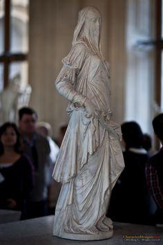 A Veiled Tale, Louvre sculptures, Paris
