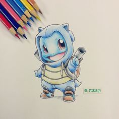 itsbirdyart:   Rework of my #Squirtle wearing his... | The Original Pokemon Community!