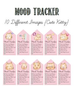 Intentionally Inspired: Why do my mood swings matter? Free Mood Tracker Planner Printable.