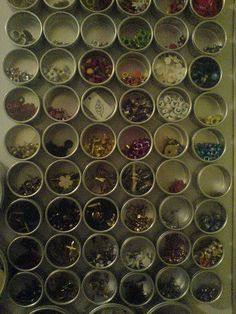 Sorting the Scrapbook Room (magnetic embellishment tins)