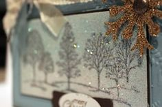 BLING up your Christmas cards. Step by step instructions to creating this look.