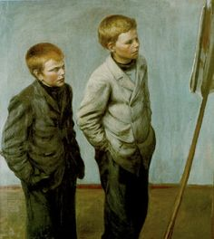Veljekset, Finland, by Hugo Simberg. Victorian Life, Jr Art, Sisters Art, Amazon Art, Famous Artists, Figurative Art, Les Oeuvres, Finland, Painting & Drawing