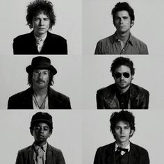 Many faces of Bob Dylan Rock and Roll Martyr ( Cate Blanchett ) Prophet ( Christian Bale ) Outlaw ( Richard Gere ) Star of electricity ( Health Ledger ) Fake ( Marcus Carl Franklin ) and Poet ( Ben Whishaw ) Movie : I'm Not There by Todd Haynes Health Ledger, Todd Haynes, Ben Whishaw, Richard Gere, Christian Bale, Many Faces, Cate Blanchett, Bob Dylan, Cinematography