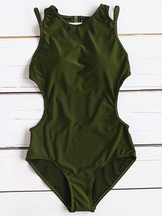 Monokini sexy con aberturas laterales-(Sheinside)