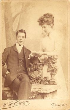 My great, great grandparents.  both photographers.  Amazing.